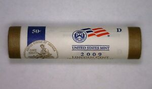 2009 D BICENTENNIAL LINCOLN CENT PENNY MINT WRAPPED ROLL FORMATIVE YEARS LP2