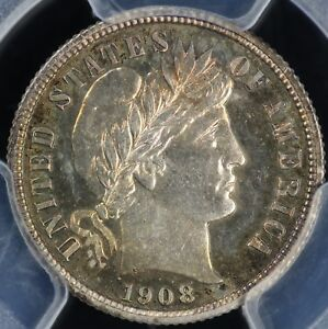 Click now to see the BUY IT NOW Price! 1908 10C PROOF BARBER DIME PCGS AND CAC PR 66 CAM