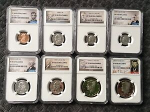 Click now to see the BUY IT NOW Price! 1995 S   NGC 70  SILVER & CLAD FULL SET  8 COINS