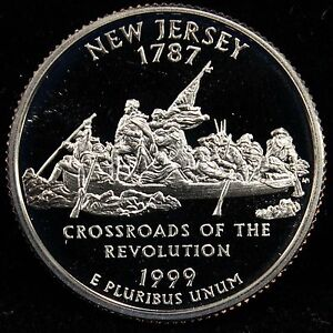 1999 S STATE QUARTER NEW JERSEY GEM PROOF DCAM CN CLAD COIN UNCIRCULATED