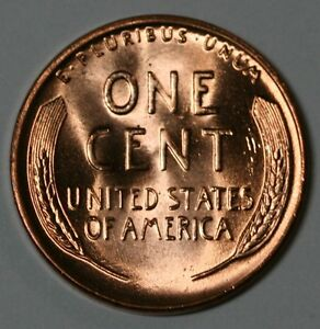 1956 D LINCOLN WHEAT CENT CHOICE BU FULL RED US COIN R