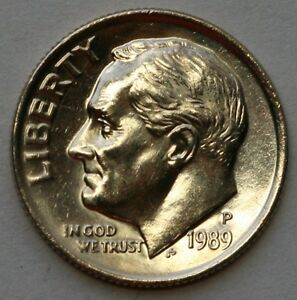 1989 P ROOSEVELT DIME BU US COIN