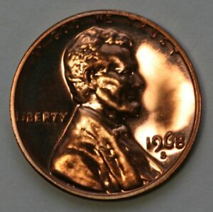 1968 S PROOF LINCOLN MEMORIAL CENT PENNY US COIN