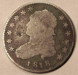 1818 CAPPED BUST QUARTER NICE