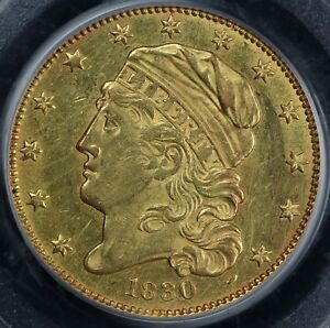 Click now to see the BUY IT NOW Price! 1830 $5 CAPPED BUST HALF EAGLE 5 DOLLAR GOLD PIECE PCGS AU 58