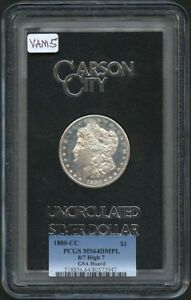 Click now to see the BUY IT NOW Price! 1880 CC MORGAN DOLLAR GSA HOARD S$1 PCGS MS64 DMPL 8/7 HIGH 7 VAM 5
