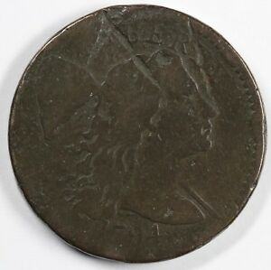 1794 1C LETTERED EDGE LIBERTY CAP S 61 LARGE CENT UNSLABBED