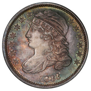 Click now to see the BUY IT NOW Price! 1833 10C LAST 3 HIGH JR 5 PCGS MS66