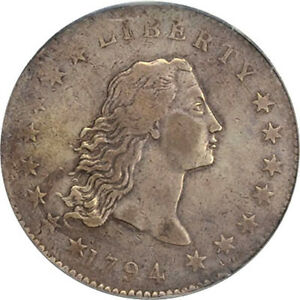 Click now to see the BUY IT NOW Price! 1794 $1 BB 1 R.4 PCGS VF30