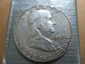 1962 FRANKLIN HALF 90  SILVER XF CONDITION & SOME MINT LUSTER CIRCULATED
