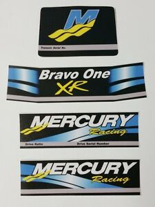 MERCRUISER THE NEW BLUE  BRAVO ONE DECALS  W //BLUE TRIMS SET