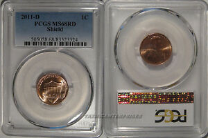 Click now to see the BUY IT NOW Price! 2011 D LINCOLN SHIELD CENT 1C PCGS MS68RD