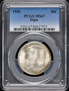 Click now to see the BUY IT NOW Price! ELGIN 1936 50C SILVER COMMEMORATIVE PCGS MS67