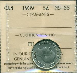 Click now to see the BUY IT NOW Price! 1939 CANADA NICKEL 5 CENT ICCS MS 65