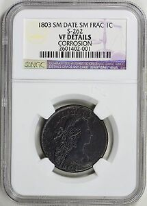 1803 DRAPED BUST CENT SMALL DATE & FRACTION S 262 NGC VF DETAILS R 3