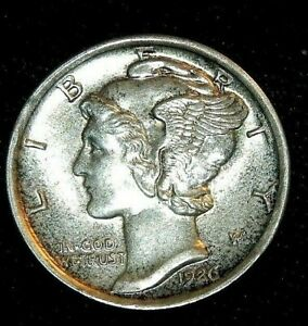 Click now to see the BUY IT NOW Price!  STUNNING 1926 D MERCURY DIME MS BU UNC       FSB BUY IT NOW OR MAKE OFFER