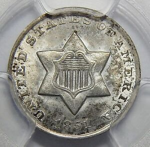 Click now to see the BUY IT NOW Price! 1851 O PCGS MS65 THREE CENT SILVER