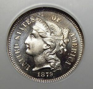 Click now to see the BUY IT NOW Price! 1879 NGC PF68 THREE CENT NICKEL
