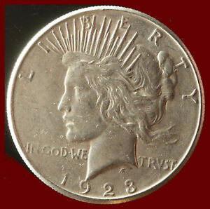 1923 S PEACE 90  SILVER DOLLAR SHIPS FREE. BUY 5 FOR $2 OFF