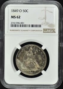 Click now to see the BUY IT NOW Price! 1849 O SEATED LIBERTY HALF DOLLAR   NO MOTTO 50C NGC MS62