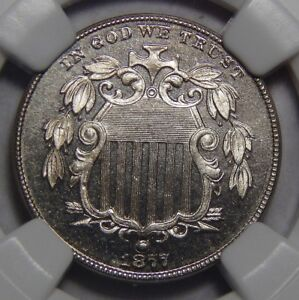 Click now to see the BUY IT NOW Price! 1877 NGC PR66 CAMEO SHIELD NICKEL