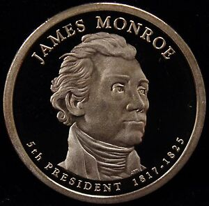 2008 S PRESIDENTIAL DOLLAR JAMES MONROE GEM DCAM PROOF UNCIRCULATED
