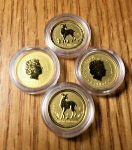 2003 1/20 OZ GOLD YEAR OF THE GOAT LUNAR COIN  SERIES I  AUSTRALIA PERTH MINT