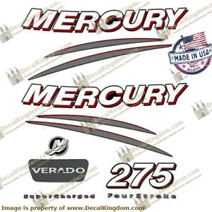 Mercury VERADO outboard decals 275 hp complete kit  Marine Vinyl 225  250  275