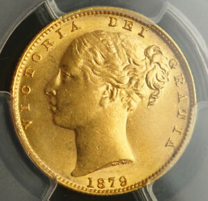 Click now to see the BUY IT NOW Price! 1879 S AUSTRALIA QUEEN VICTORIA. CERTIFIED GOLD SOVEREIGN COIN. PCGS AU 58