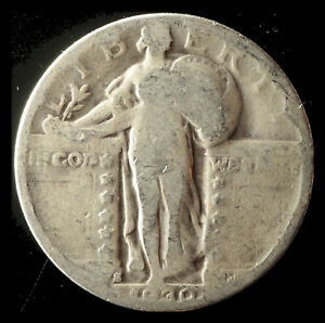 1930 S STANDING LIBERTY 90  SILVER QUARTER SHIPS FREE. BUY 5 FOR $2 OFF