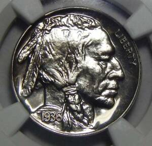 Click now to see the BUY IT NOW Price! 1936 NGC PF68 BRILLIANT BUFFALO NICKEL