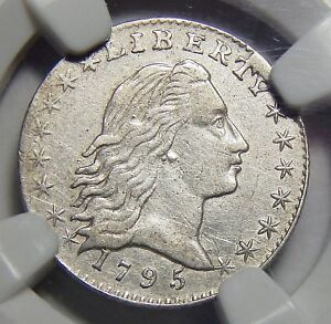 Click now to see the BUY IT NOW Price! 1795 NGC XF45 FLOWING HAIR HALF DIME
