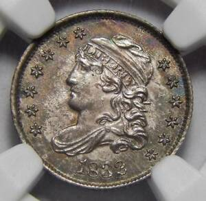 Click now to see the BUY IT NOW Price! 1832 NGC MS65 CAPPED BUST HALF DIME
