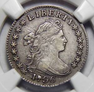 Click now to see the BUY IT NOW Price! 1796 NGC AU50 DRAPED BUST DIME