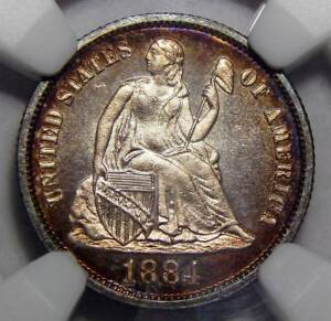 Click now to see the BUY IT NOW Price! 1884 NGC PF68 SEATED LIBERTY DIME