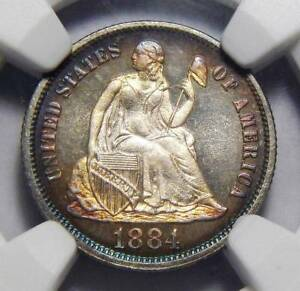 Click now to see the BUY IT NOW Price! 1884 NGC PF68 CAMEO SEATED LIBERTY DIME