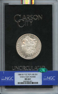 Click now to see the BUY IT NOW Price! 1880 8/7 CC TOP 100 MORGAN S$1 VAM 6 GSA HOARD NGC MS66   CAC  FINEST KNOWN