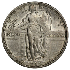Click now to see the BUY IT NOW Price! 1916 25C STANDING LIBERTY PCGS AU58 CAC