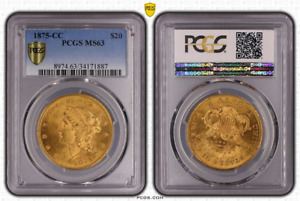 Click now to see the BUY IT NOW Price! 1875 CC $20   PCGS  MS 63