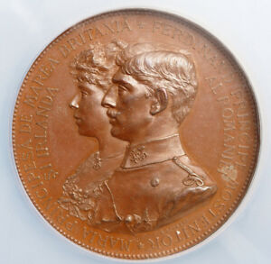 Click now to see the BUY IT NOW Price! 1893 KINGDOM OF ROMANIA FERDINAND I & MARIA. BRONZE