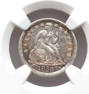 1853 DIME WITH ARROWS NGC AU55 SEATED LIBERTY SILVER DIME TYPE COIN