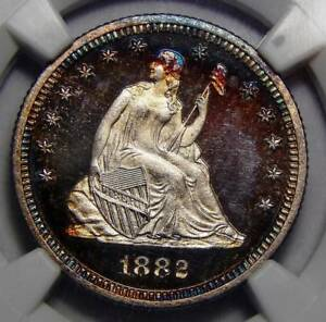 Click now to see the BUY IT NOW Price! 1882 NGC PF68 CAMEO SEATED LIBERTY QUARTER