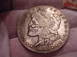 HOBO STYLE 1893 MORGAN EAGLE BACK SILVER CLAD TONED COIN   NICE   1AE