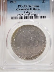 1900 LAFAYETTE $1 PCGS CLEANED AU DETAIL EARLY SILVER COMMEMORATIVE DOLLAR