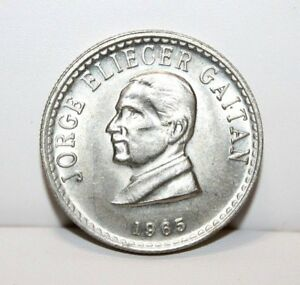 1965 COLOMBIA 50 CENTAVOS COIN KM 225 UNC