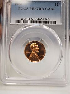 1964 PCGS PR67RD CAM PROOF LINCOLN CENT RED 1365
