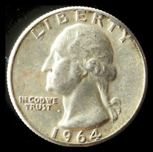 1964 P WASHINGTON 90  SILVER QUARTER SHIPS FREE. BUY 5 FOR $2 OFF