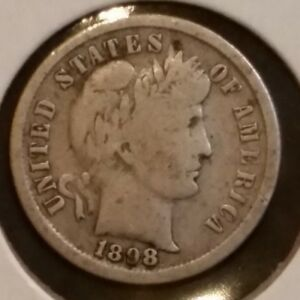 Click now to see the BUY IT NOW Price! 1898 S BARBER LIBERTY DIME GOOD 10