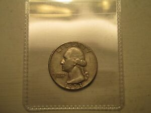 1953 S WASHINGTON  QUARTER