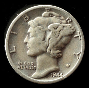 1944 S MERCURY 90  SILVER DIME SHIPS FREE. BUY 5 FOR $2 OFF